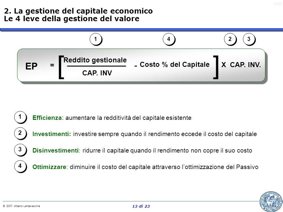 [ ] EP 2. La gestione del capitale economico